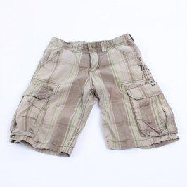Dětské šortky hnědé s pruhy