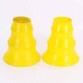 Stínidla 2 kusy skleněná žlutá