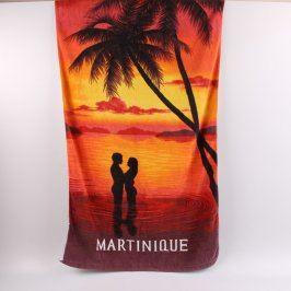 Osuška s nápisem Martinique