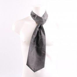 Pánská kravata černá s kytičkami
