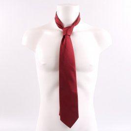 Pánská kravata odstín červené