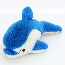 Plyšový delfín modro bílý 24 cm