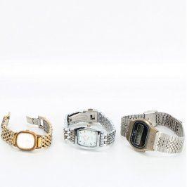 Dámské analogové a pánské digitální hodinky