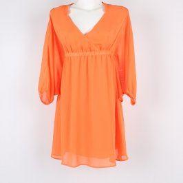 Dámské mini šaty Bonprix odstín oranžové