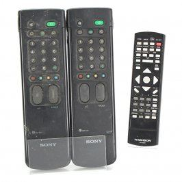Dálkový ovladač - 2 x Sony + 1 x Thomson