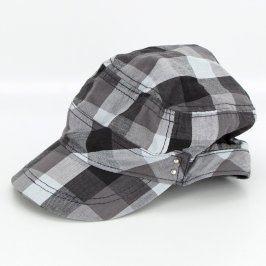 Čepice s kšiltem černošedá