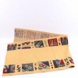 Kusový koberec béžový se vzory 212x70 cm