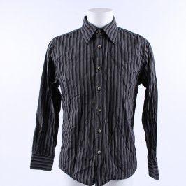 Pánská košile Okey odstín šedé s proužkem