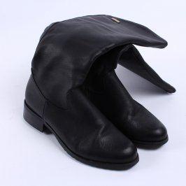 Dámské kozačky na podpatku černé