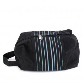 Pánská kosmetická taška černá s proužky