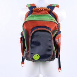 Školní batoh oranžový s barevnými prvky