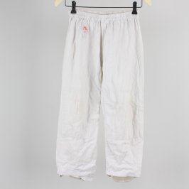 Dětské plátěné kalhoty bílé