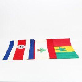 Vlajky Libanonu, Senegalu a Kostariky