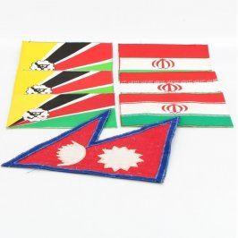 Vlajka Íránu a Nepálu