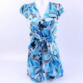Dámské šaty Ce Me modré se vzory