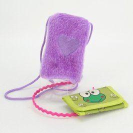 Dětská kapsička + zelená peněženka + čelenka