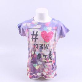 Dětské tričko Next fialové se srdíčky