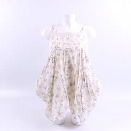 Dívčí šaty George bílé s kytičkami