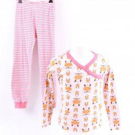 Dívčí pyžamo růžové s lištičkami