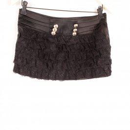 Dámská mini sukně odstín černé