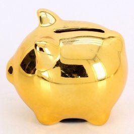 Keramická pokladnička - zlaté prasátko