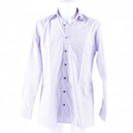 Pánská košile proužkovaná odstín modré