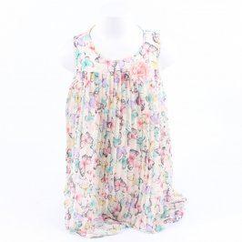 Dětské šaty H&M růžové s motivem motýlů