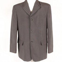 Pánské sako odstín hnědé s proužky