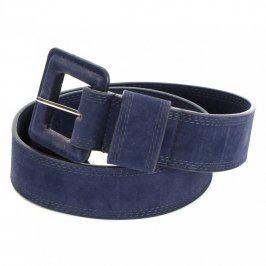 Dámský pásek se sponou odstín modré