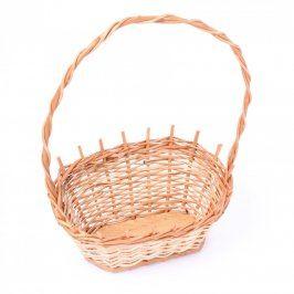 Košík dřevěný dekorativní pletený