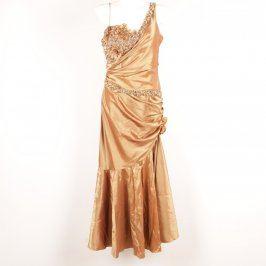 Společenské šaty Fashion New York zlaté
