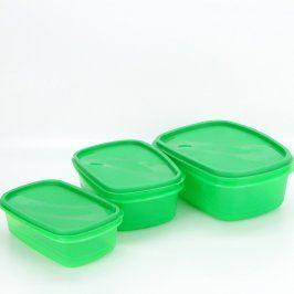 Plastové dózy na potraviny zelené
