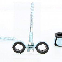Dvojitý držák kabelů s vrutem