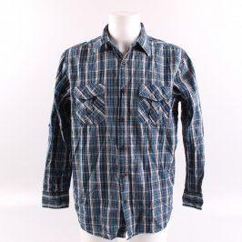Pánská košile Cherokee modro šedá kostkovaná
