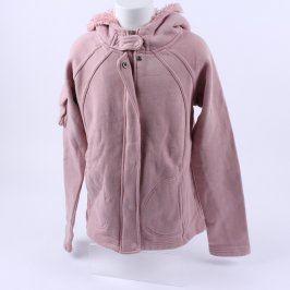 Dětská mikina odstín růžové s kapucí