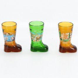 Sada skleněných kalíšků tvar boty