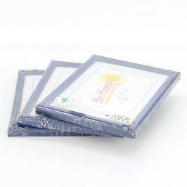 Dřevěné rámečky odstín modré