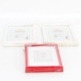 Dřevěné rámečky Hama odstín červené a bílé