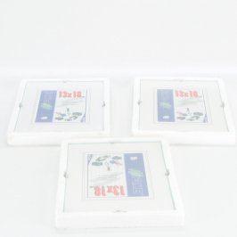 Dřevěné rámečky Fomei odstín bílé 3 ks