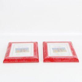 Dřevěné rámečky Flair červené