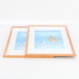 Dřevěné rámečky odstín hnědé