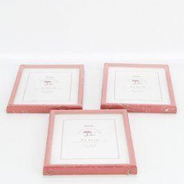 Dřevěné rámečky Hama 3 ks červené
