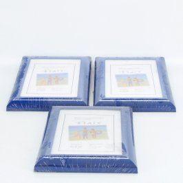 Dřevěné rámečky Flair modré 3 ks
