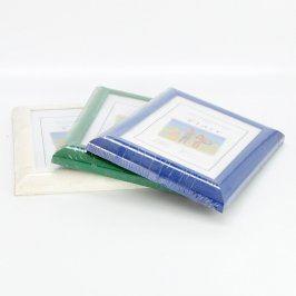Dřevěné rámečky Flair 3 ks různé barvy