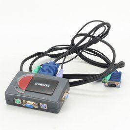Datový přepínač Edimax EK-2PSK pro 2 PC