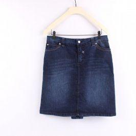 Riflová sukně Infinite odstín modré