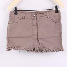 Dámská mini sukně odstín hnědé