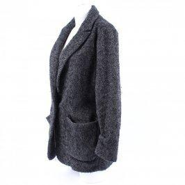 Dámský kabát na knoflíky Mango šedý