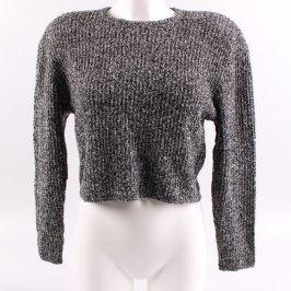 Dámský svetr Lian odstín šedé melírovaný