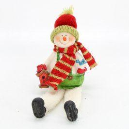 Keramická figurka - sedící sněhulák